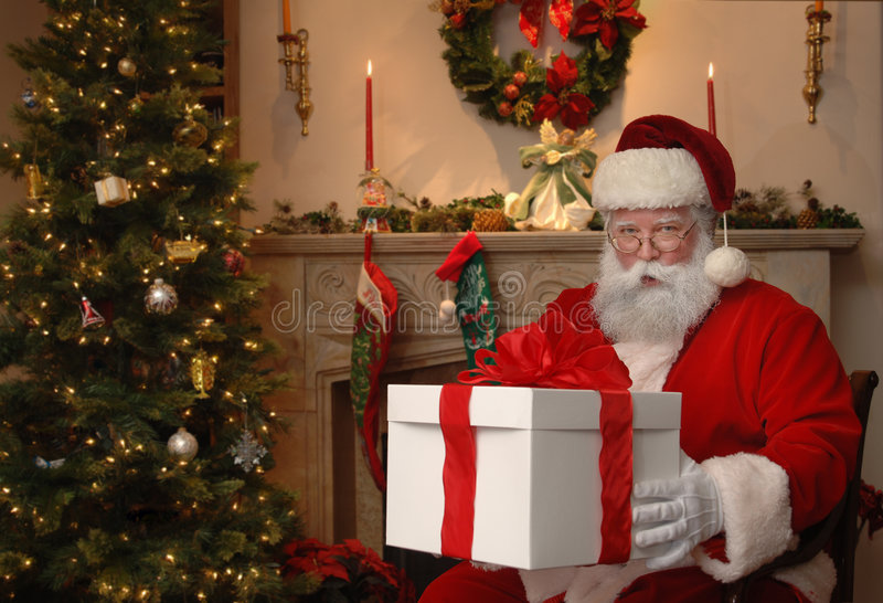 Download Gift from Santa stock photo. Image of nicholas, living - 7590400