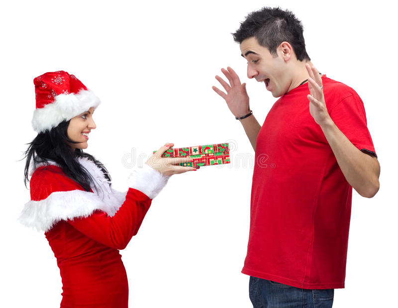 Gift from Santa Claus stock images