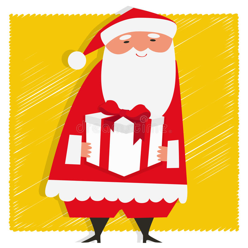 Download Gift from Santa stock vector. Image of draw, claus, christmas - 35362887