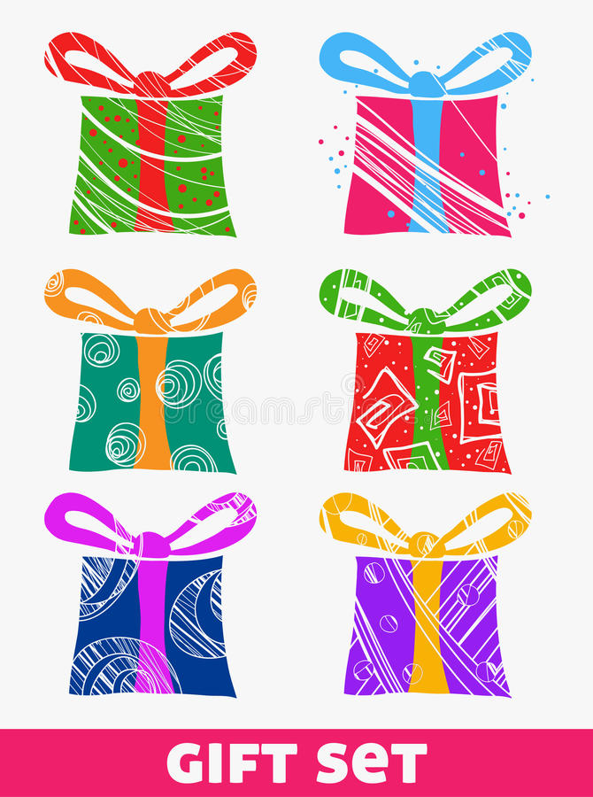 Download Gift set stock vector. Illustration of love, isolated - 21855769