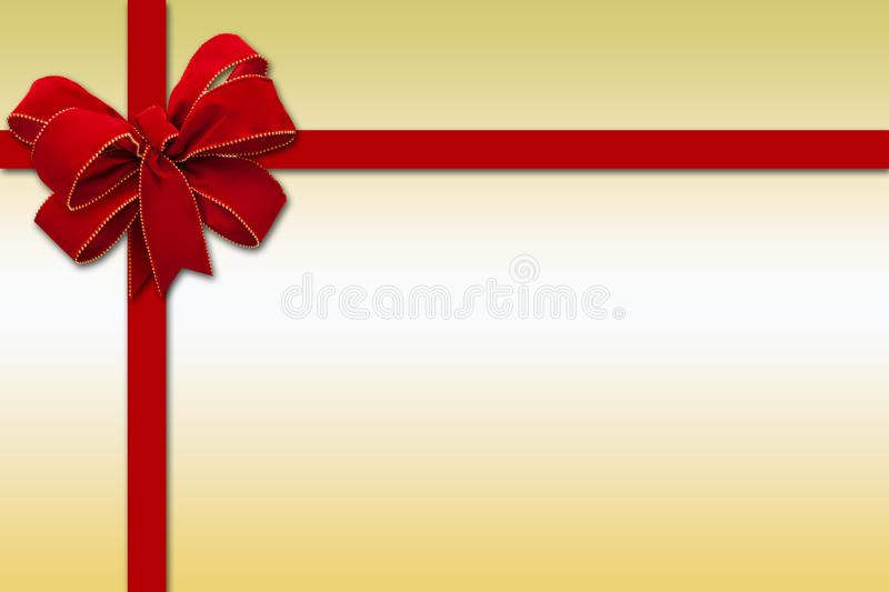 Gift-shaped illustration with a big ribbon decoration royalty free illustration