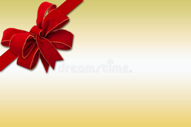 Gift-shaped illustration with a big ribbon decoration vector illustration