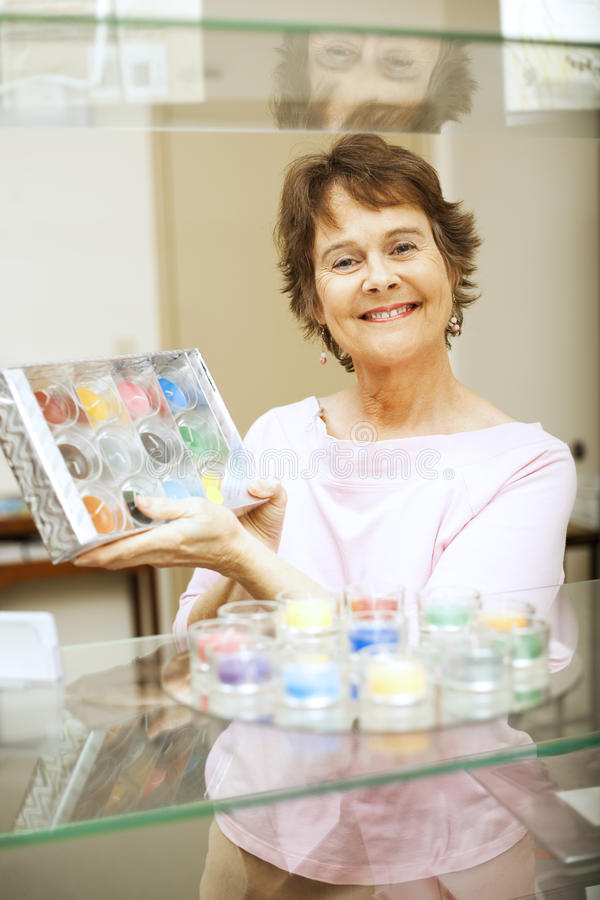 Download In the Gift Shop stock image. Image of female, clerk - 15345349