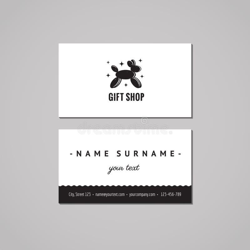 Gift Shop And Souvenirs Business Card Design Concept. Gift Shop ...