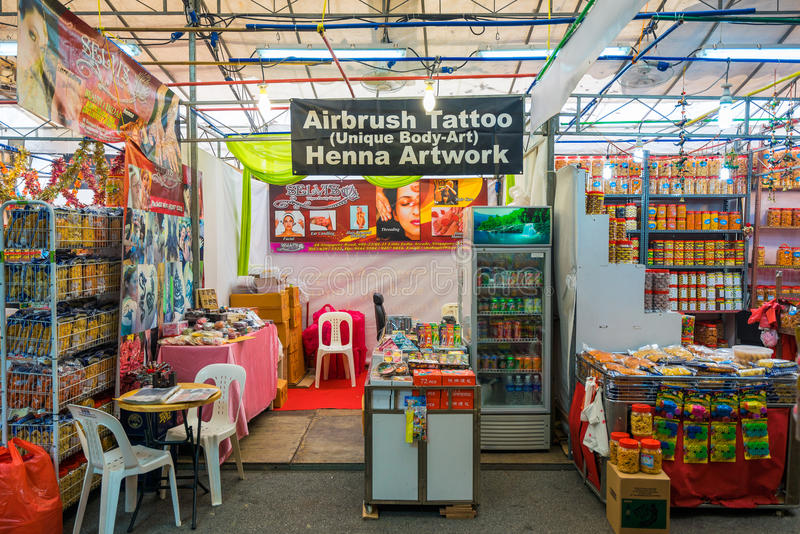 Gift shops at Little India, Singapore stock photos