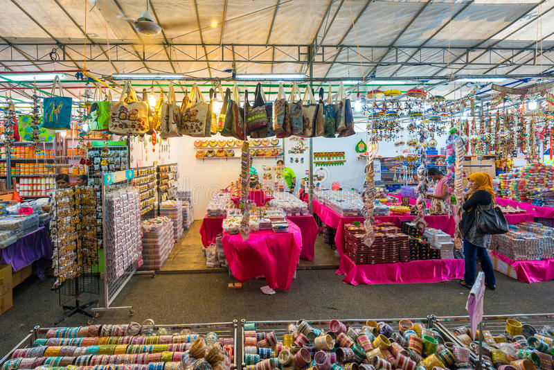 Gift shops at Little India, Singapore royalty free stock photos
