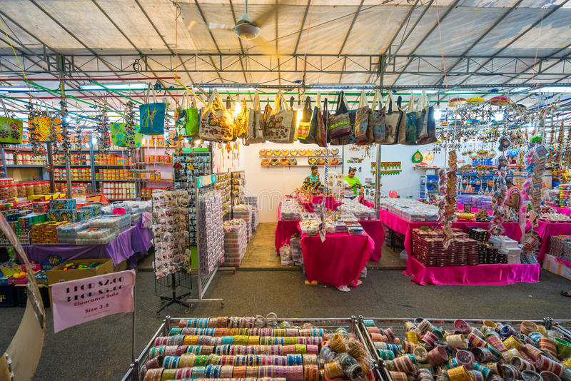 Gift shops at Little India, Singapore royalty free stock photo