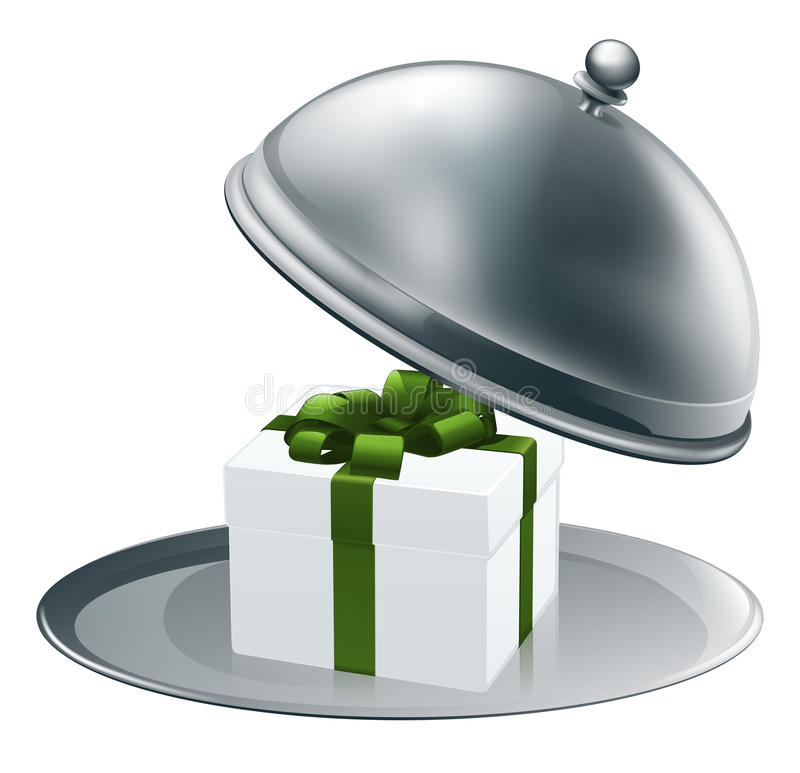 Download Gift on a silver platter stock vector. Image of illustration - 25269538
