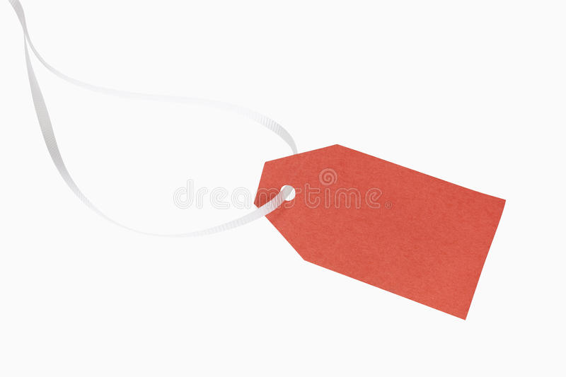 Download Gift Tag stock photo. Image of white, path, ribbon, christmas - 27023980