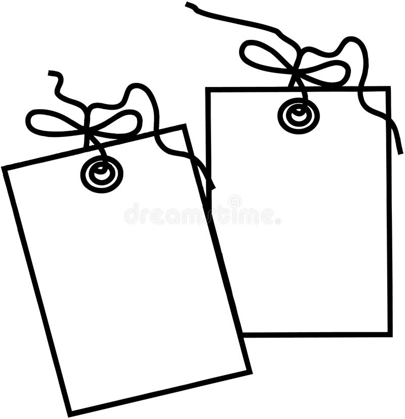 gift tag template cartoon vector clipart stock vector illustration rh dreamstime com free clipart gift tag happy birthday gift tag clipart