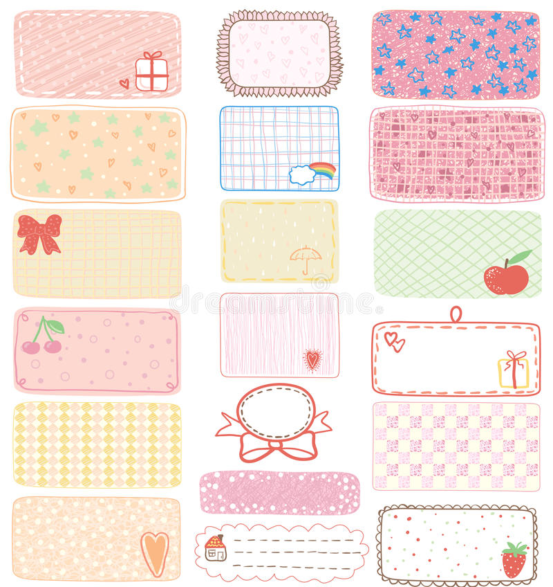 Download Gift tags stock vector. Illustration of pattern, abstract - 26481675