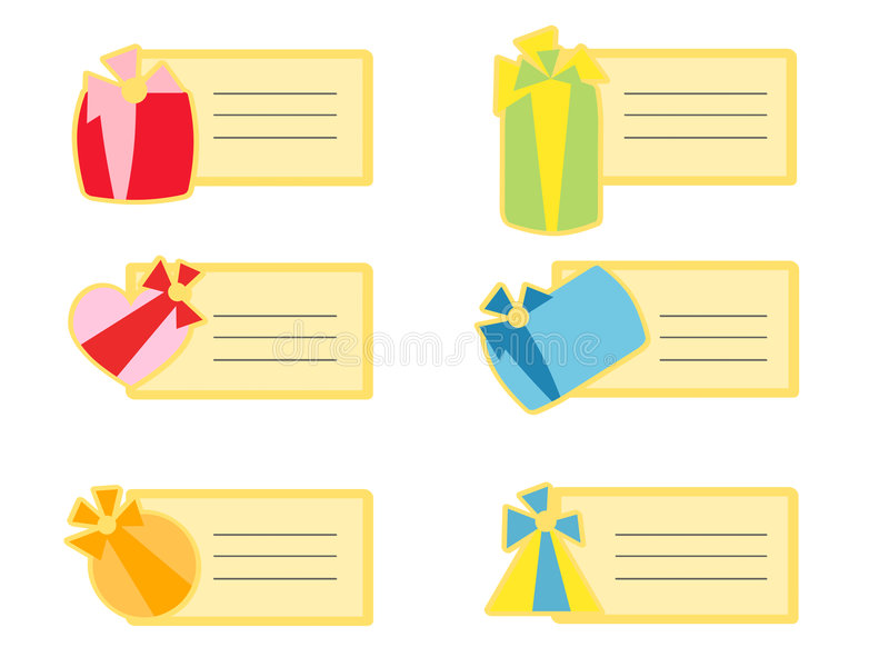 Download Gift tags stock vector. Image of ribobns, stickers, paper - 8614958