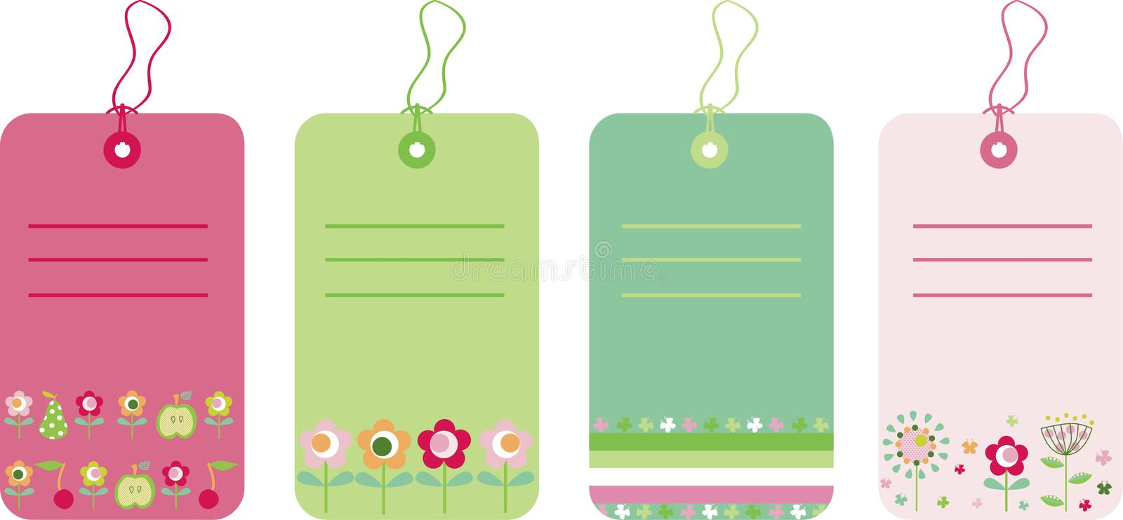 Download Gift tags stock vector. Illustration of stickers, flowers - 8662017