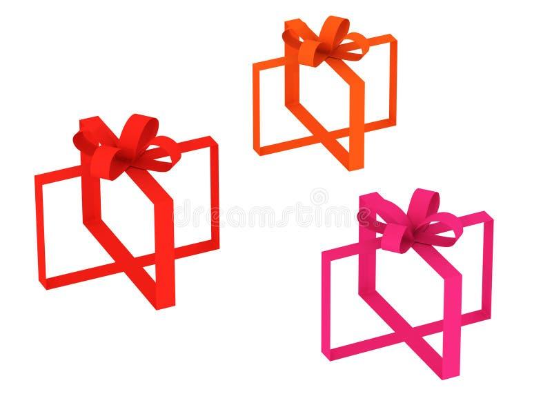 Download Gift tapes stock illustration. Image of gift, image, orange - 13170472