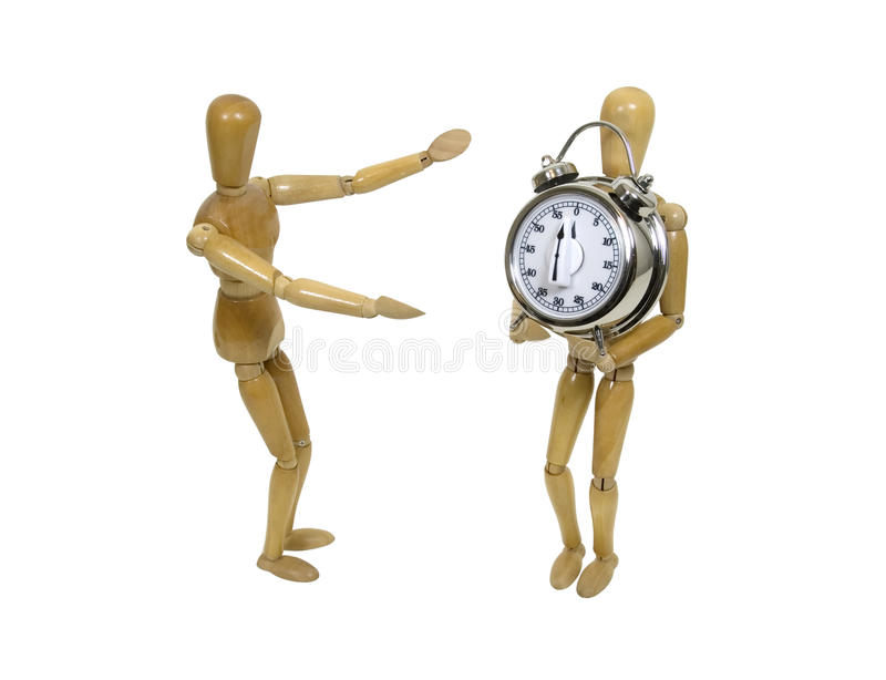 Gift of time stock images