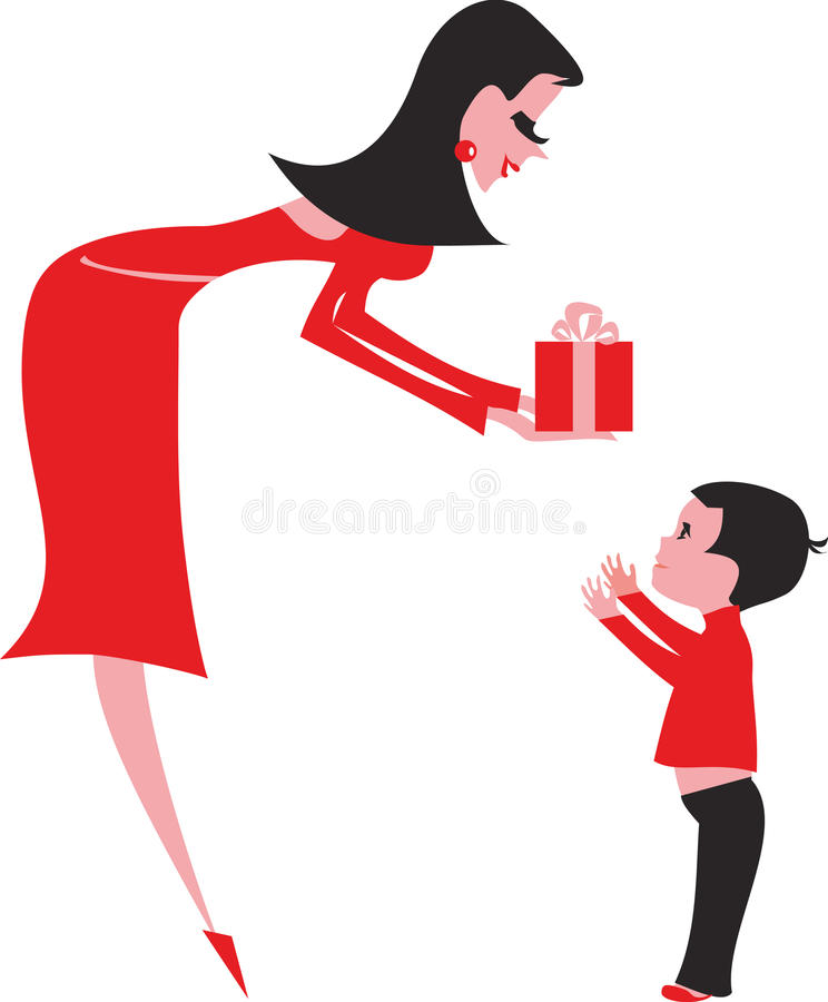 Download Gift to a child-boy stock vector. Illustration of pretty - 20378173