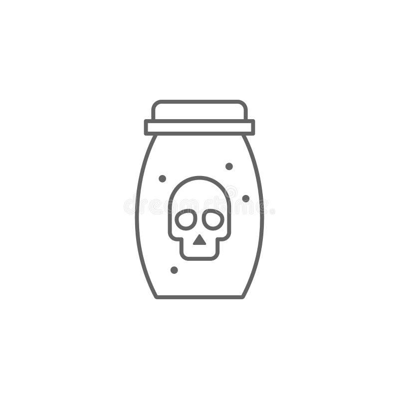 Gift, unangenehmes Kontursymbol Element eines unangenehmen Symbols Thin-line-Symbol für Website-Design und -Entwicklung, App-Entw lizenzfreie abbildung