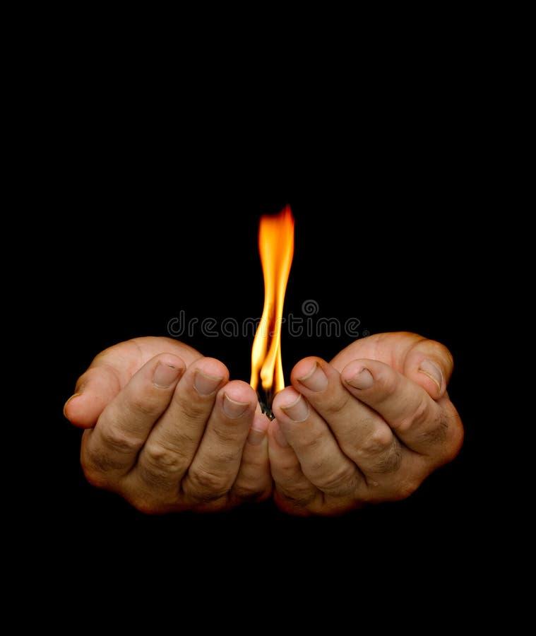 Gift van brand stock fotografie