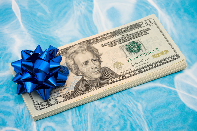 Gift van Geld royalty-vrije stock foto