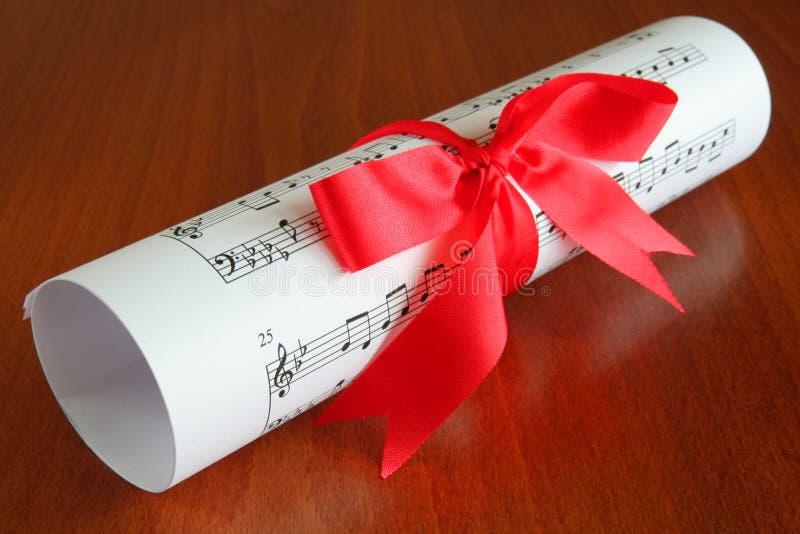 Gift van muziek royalty-vrije stock afbeelding