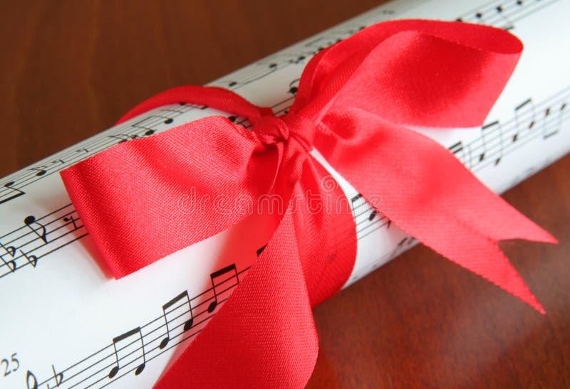 Gift van muziek royalty-vrije stock foto