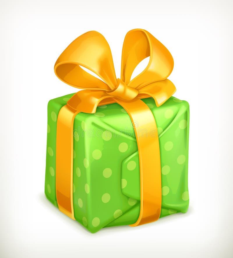 Gift, vectorpictogram royalty-vrije illustratie