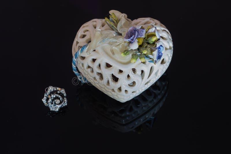 Gift voor de dag van de Valentijnskaart stock foto's