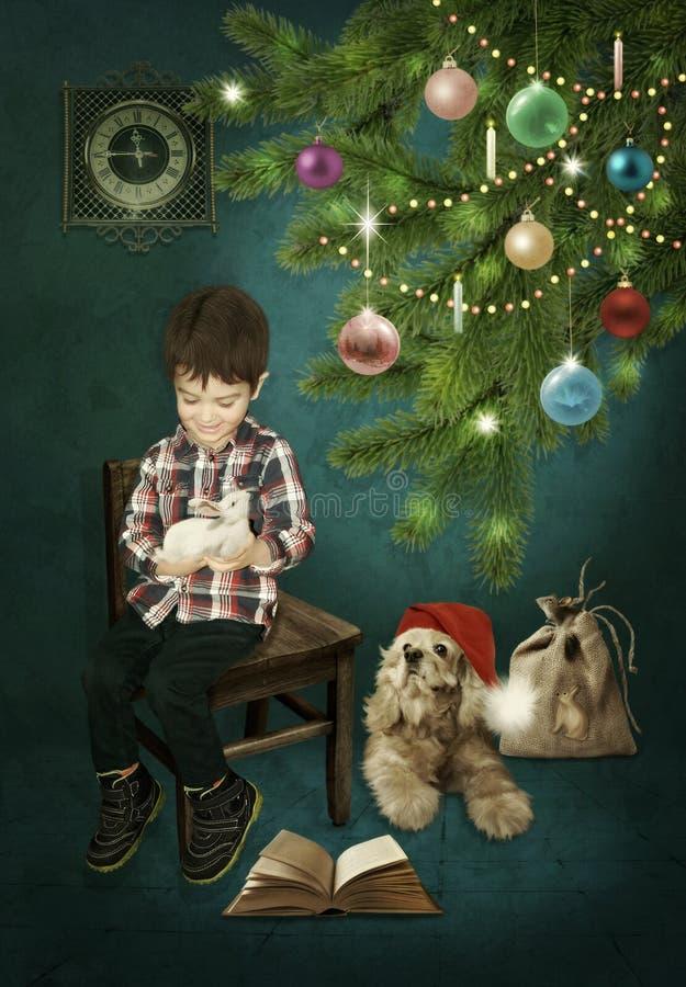 Gift voor Kerstmis stock foto