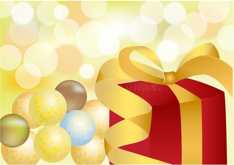 Gift voor nieuw jaar, Kerstmis, viering royalty-vrije stock afbeeldingen