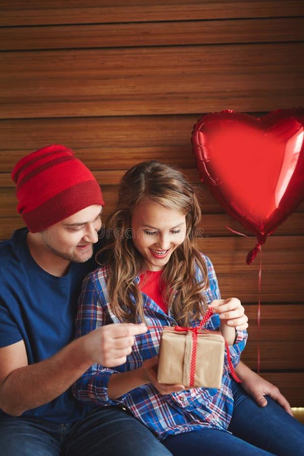 gift voor valentijnskaart stock foto's