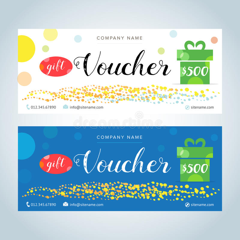 Gift voucher gift certificate coupon template blue and white download gift voucher gift certificate coupon template blue and white color versions yelopaper Choice Image