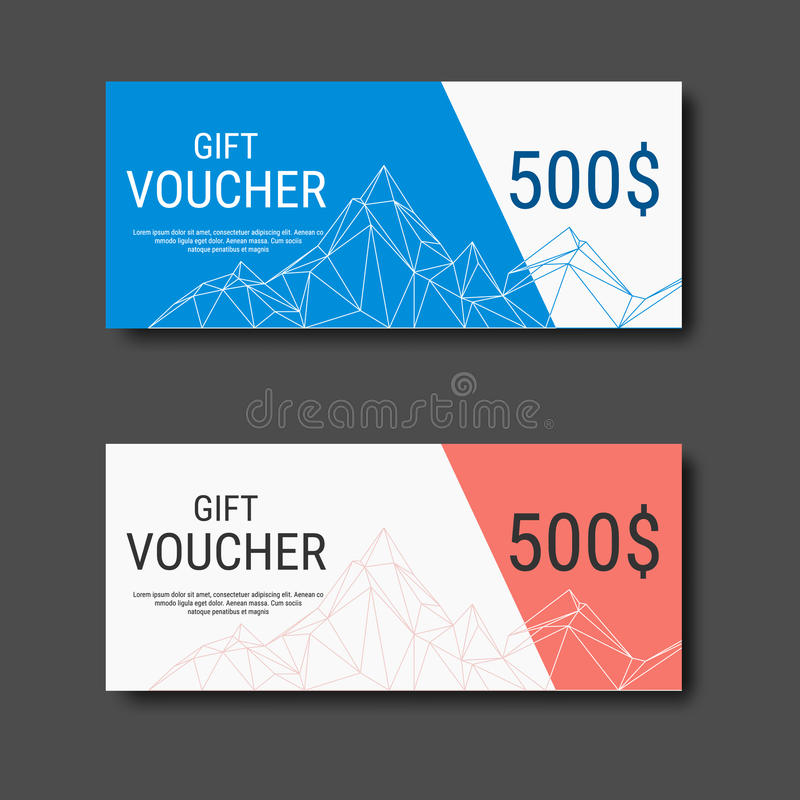 Download Gift Voucher Certificate Coupon Template With Colorful And Modern  Style. Stock Vector   Image  Business Coupon Template