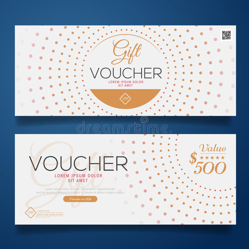 Gift Voucher Colorful, certificate coupon design, Vector illustration. royalty free illustration