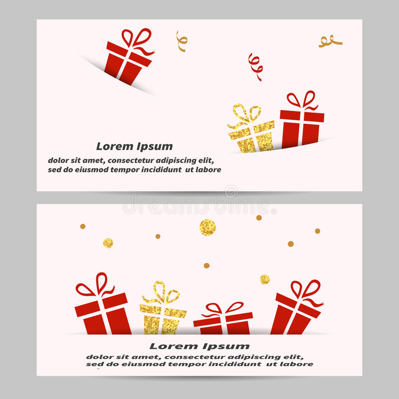 Gift Voucher Coupon Design Template Stock Vector Illustration Of
