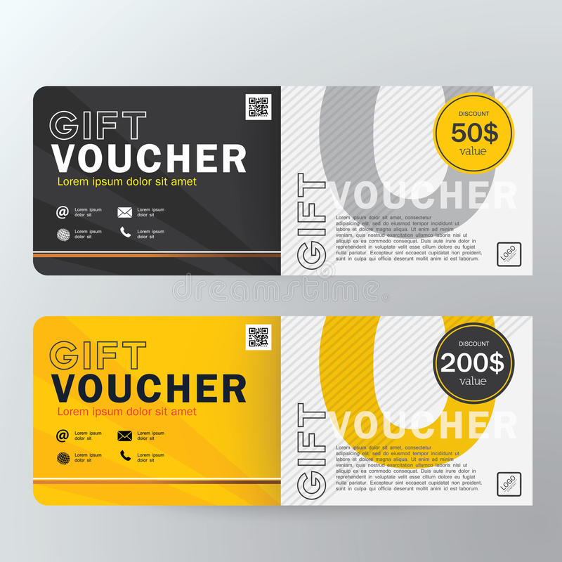 Gift Voucher Design Vector Template Stock Vector - Illustration of ...