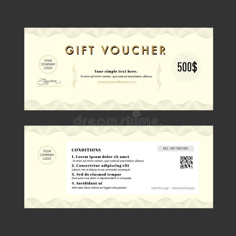 Gift Voucher Elegant design certificate coupon Template stock image