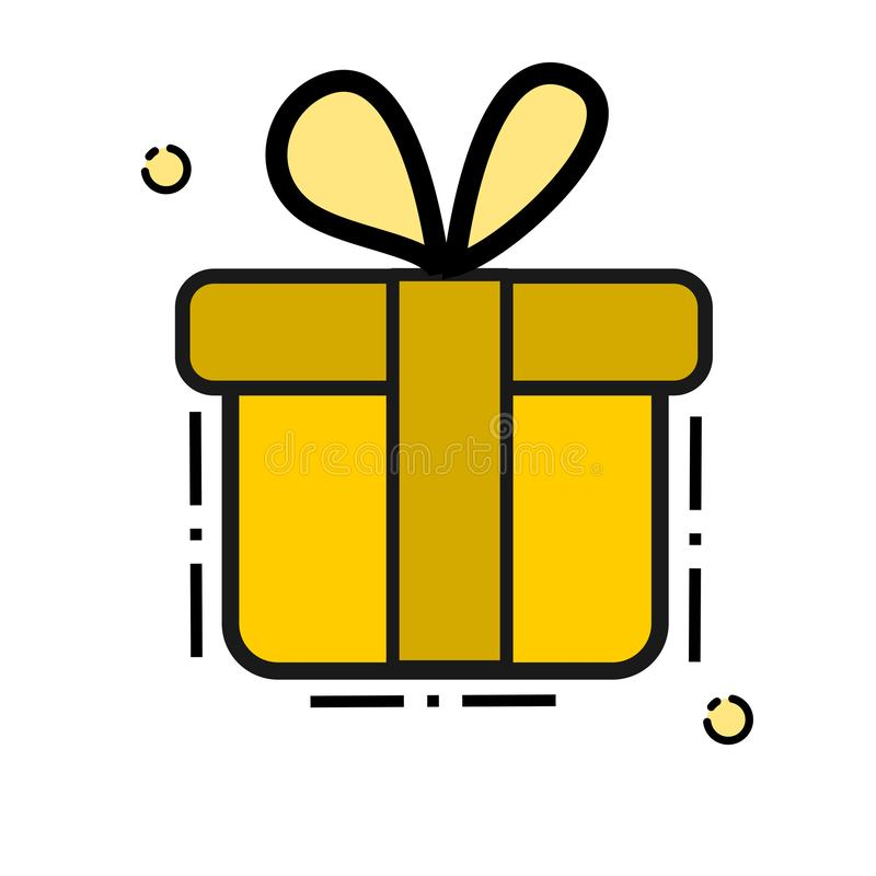 Gift Voucher Icon with line art Vector royalty free illustration