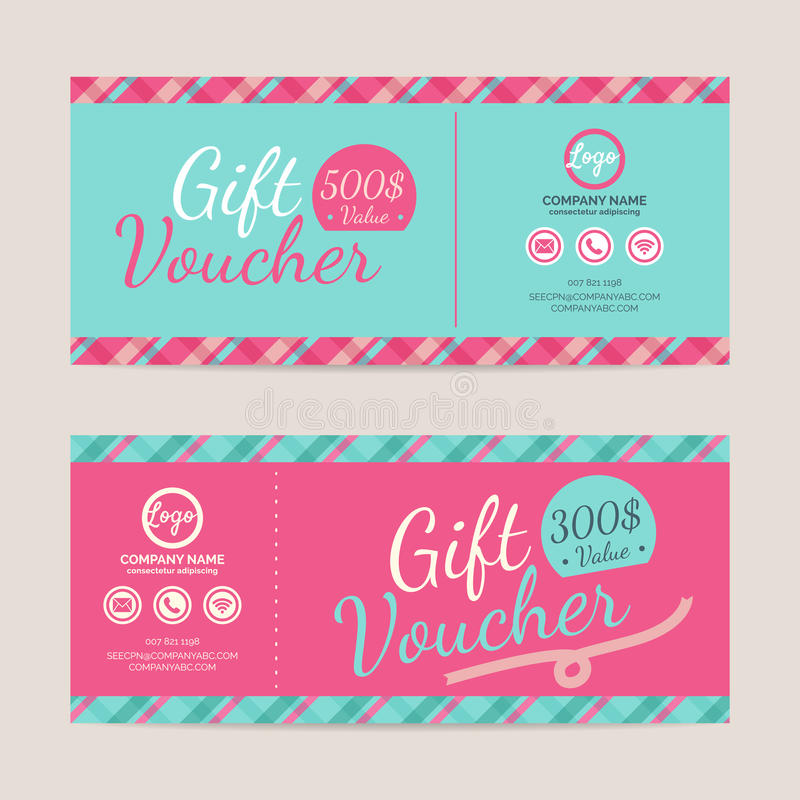 Gift Voucher Format Gift Voucher Template Stock Vectorillustration Of Card  62424650