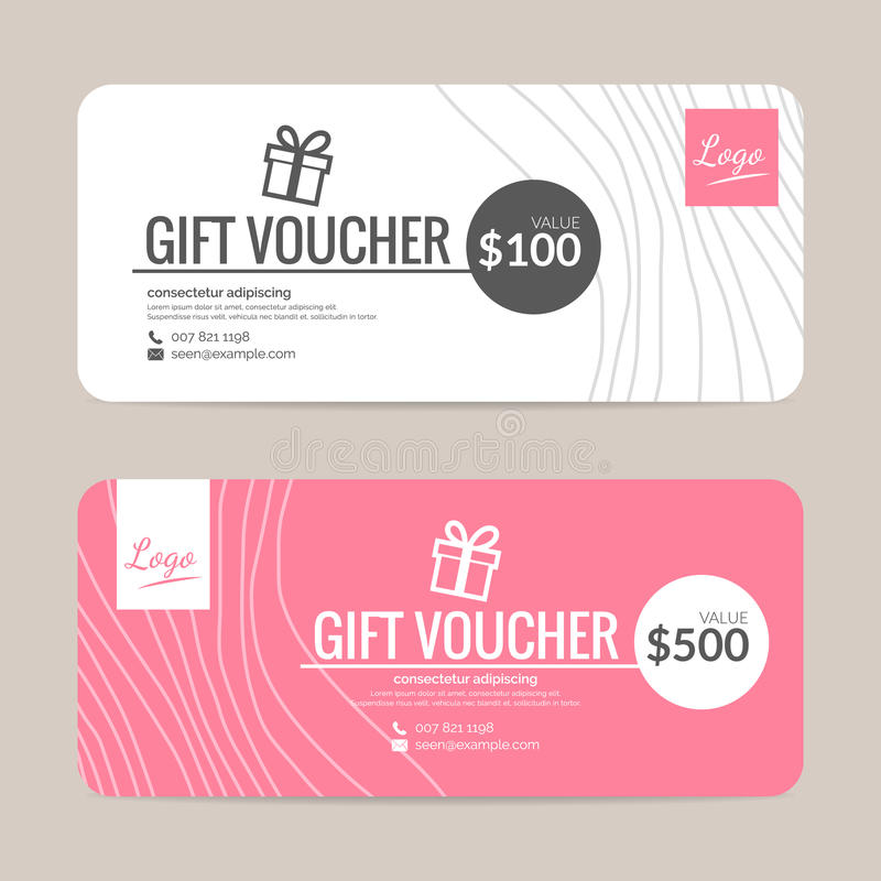 Gift Voucher Template Stock Vector  Image