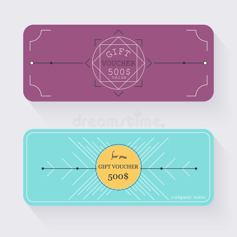 Gift Voucher Template Gift Certificate Background Design Gift