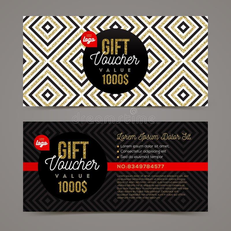 Gift voucher template vector illustration