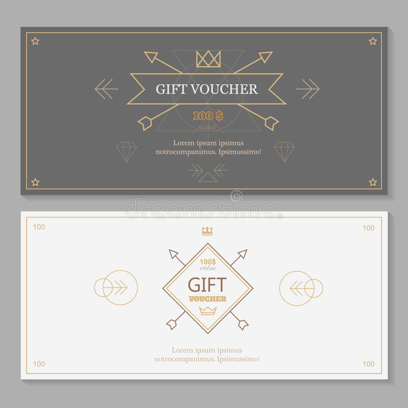 Gift voucher template with hipster design line stock vector download gift voucher template with hipster design line stock vector illustration of certificate yadclub Image collections