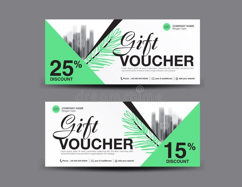 Gift Voucher Template Layout, Business Flyer Design, Jungle Leaf ...