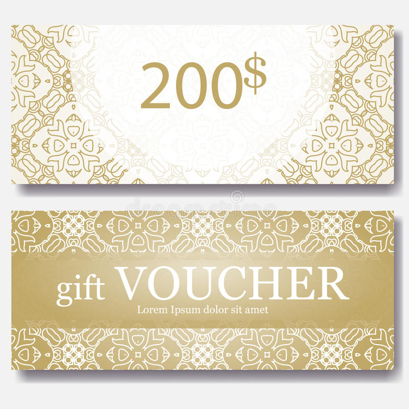 Gift voucher template with mandala design certificate for sport download gift voucher template with mandala design certificate for sport center magazine or etc yadclub Gallery