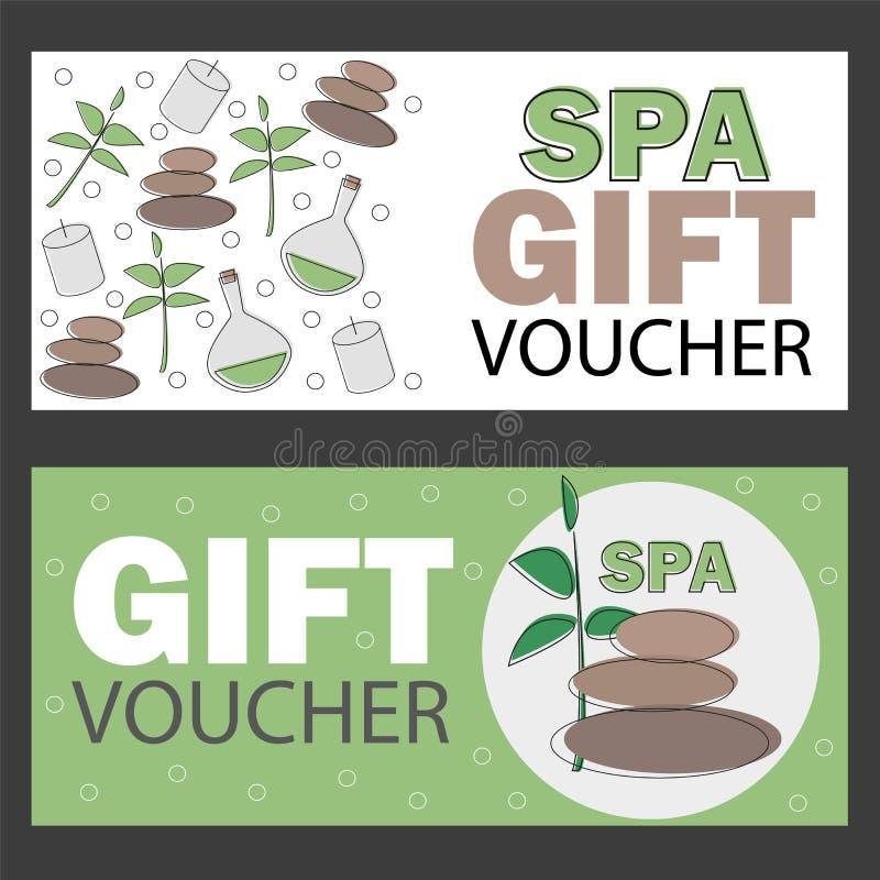 Gift Voucher Template For Spa Hotel Resort Vector Illustration