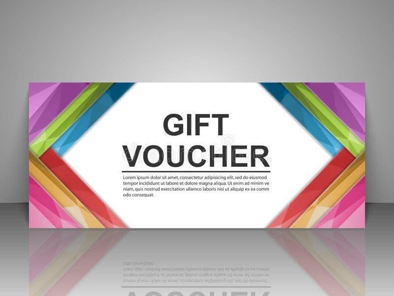 Gift voucher template. stock illustration
