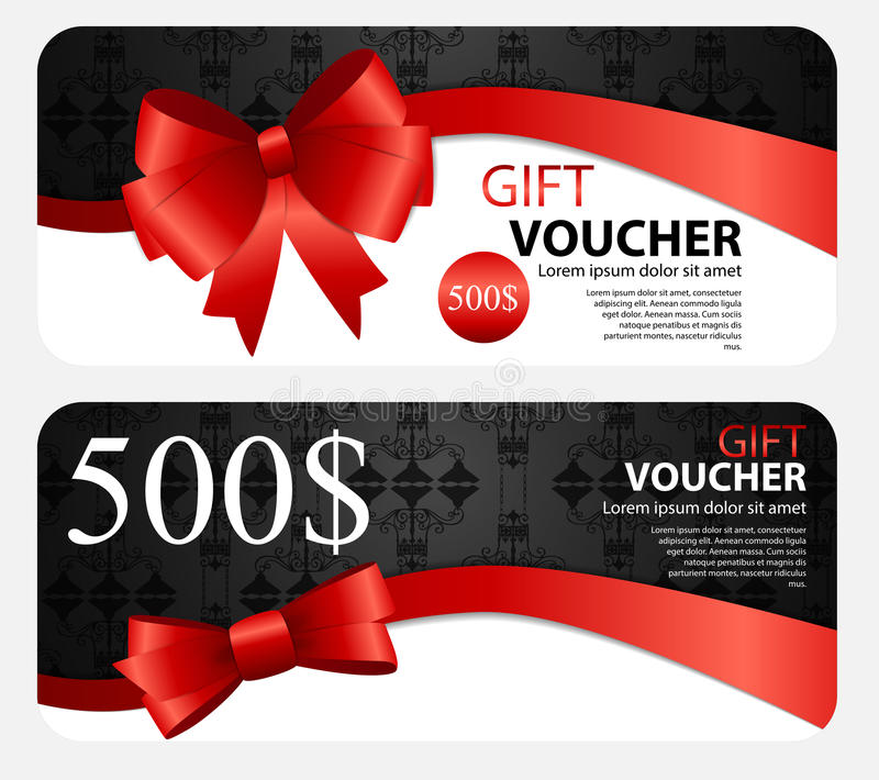 Gift Voucher Template For Your Business. Vector Illustration vector illustration