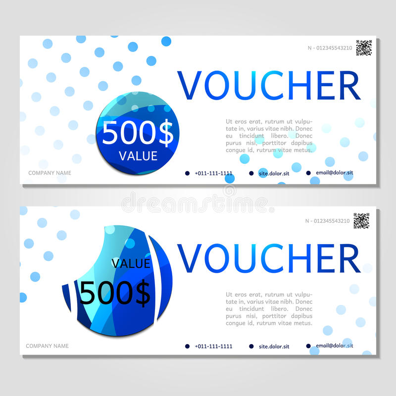 Gift Voucher Vector Illustration Coupon Template For Company Stock