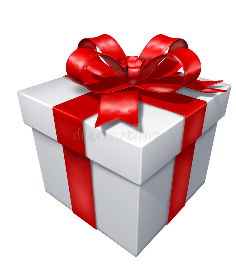 Gift White Box Stock Photography