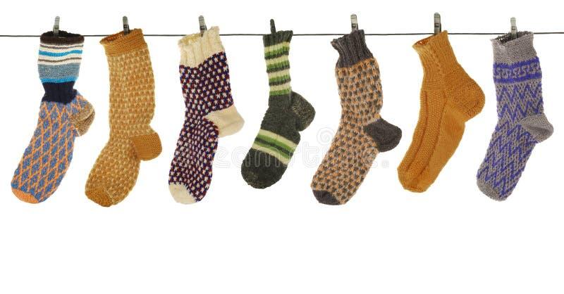 Gift woolen sock royalty free stock photo